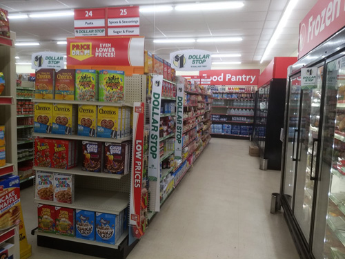 Family Dollar and Dollar Tree hybrid Dollar Stop store