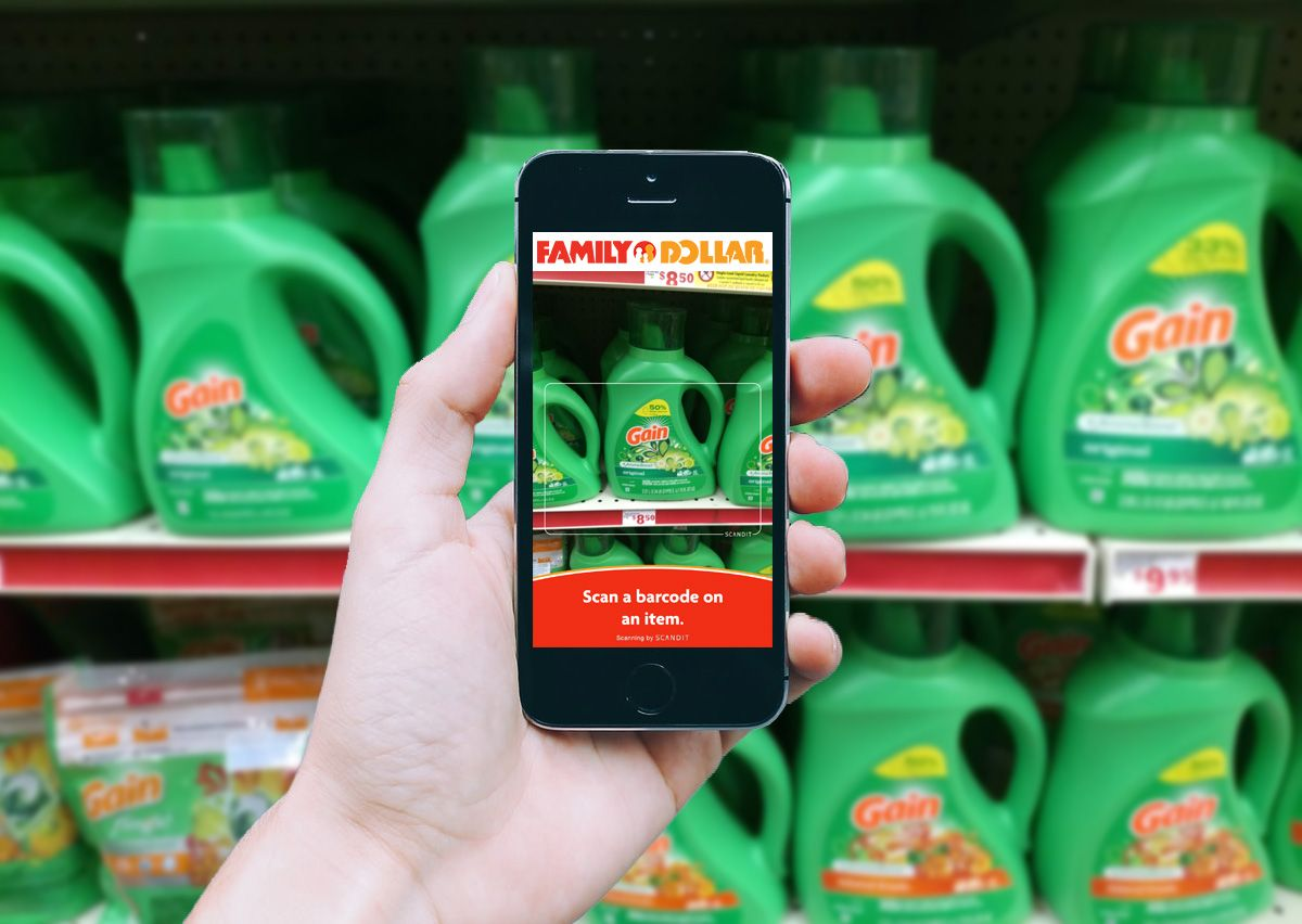 Scan Products to Find Coupons in the Family Dollar App
