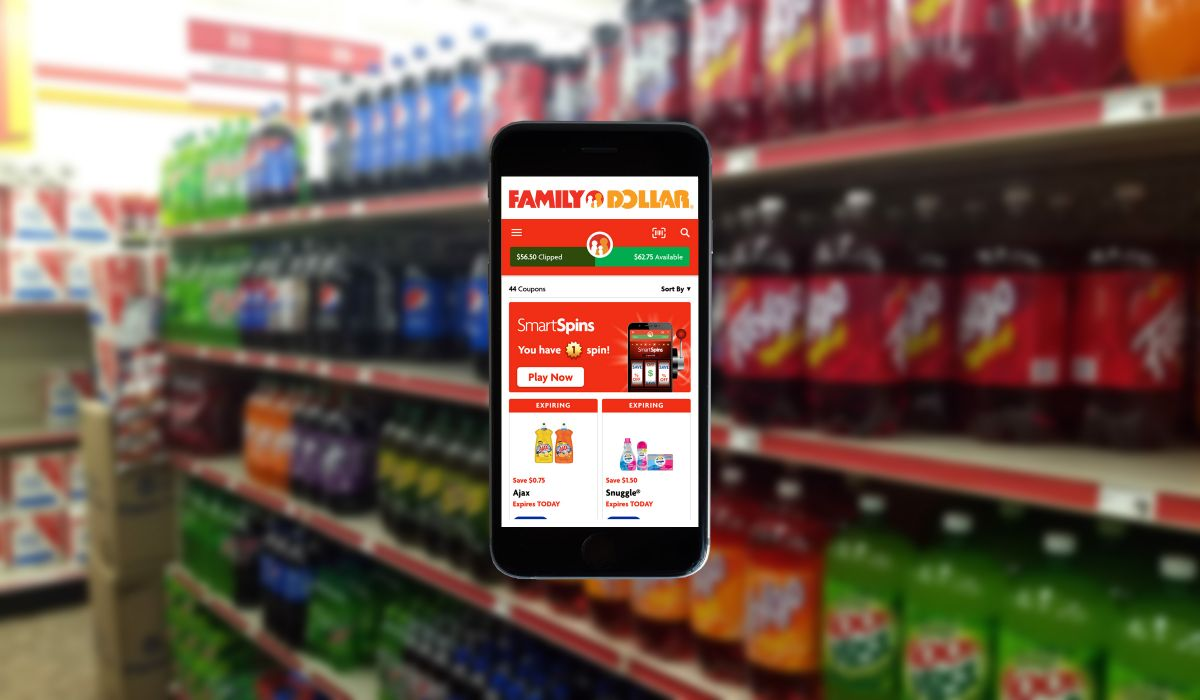 Win Coupons in the Family Dollar App with SmartSpins