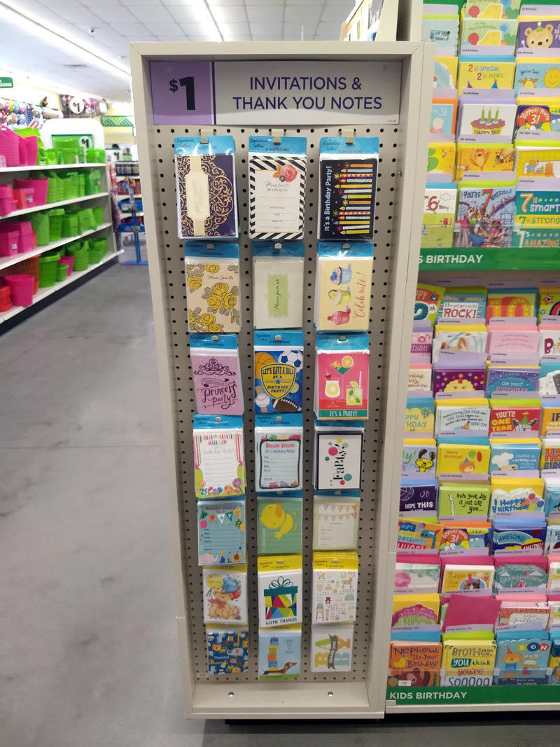 Your Recipients Will Never Know You Didn T Pay Retail At A Typical Hallmark Cards Now. Party Invitations Dollar Tree ...