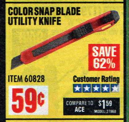 Harbor Freight Cheapest Item Utility Knife