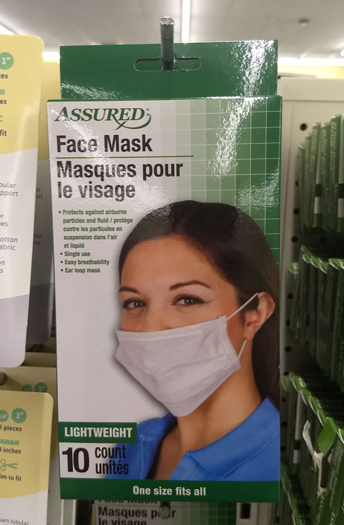 Dollar Tree Face Mask