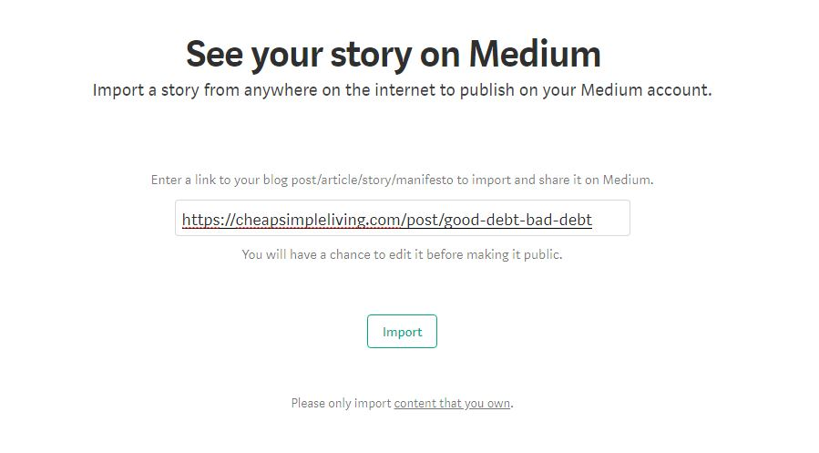 Medium See Your Story on Medium