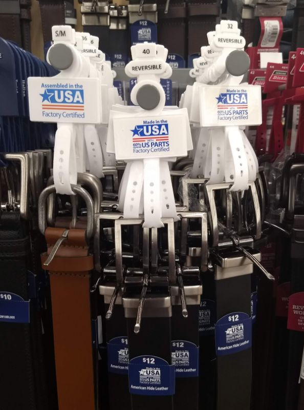 Walmart Made in the USA Belts