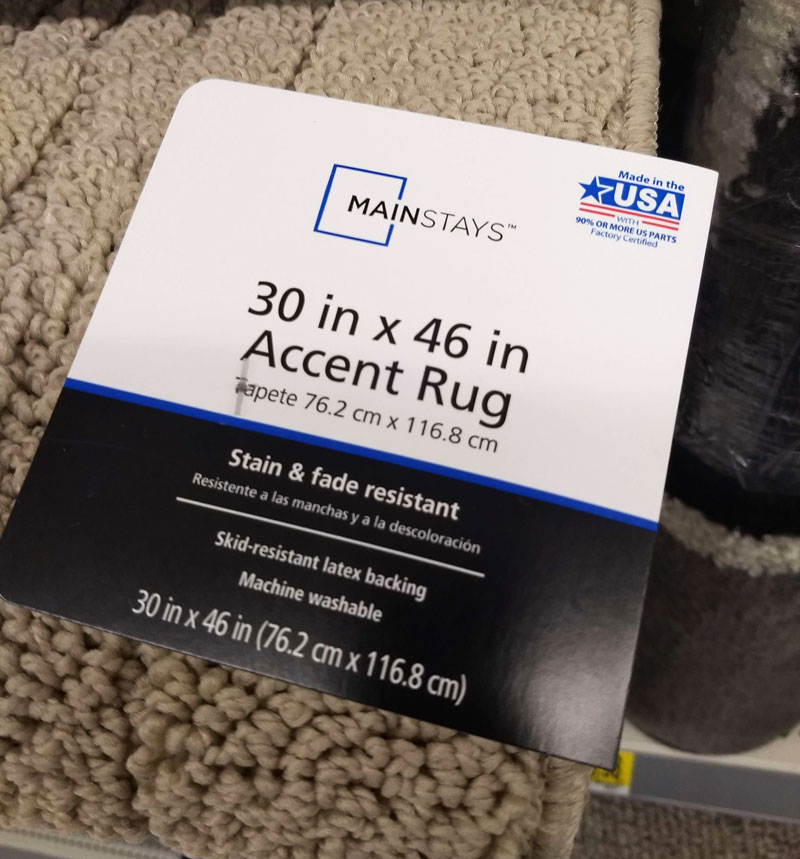 Walmart Made in the USA accent rug