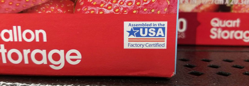 Walmart Made in the USA bags