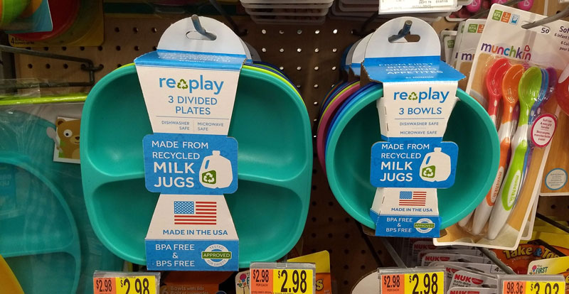 Walmart Made in the USA baby dishes