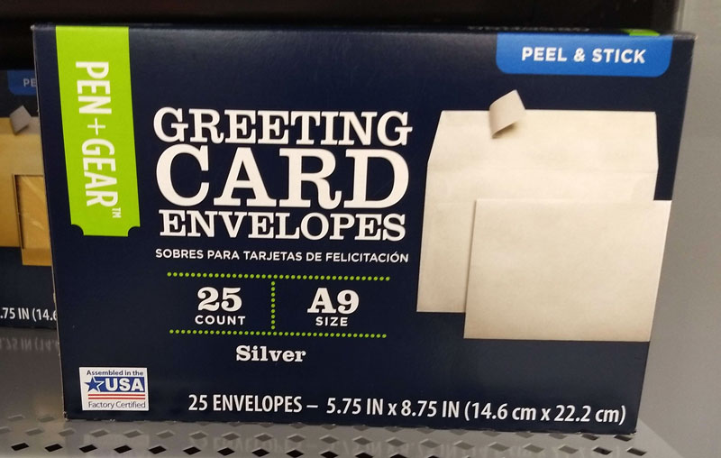 Walmart Made in the USA envelopes