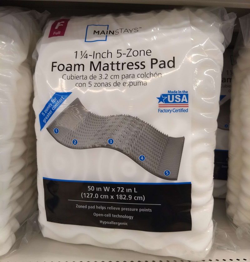 Walmart Made in the USA mattress pad