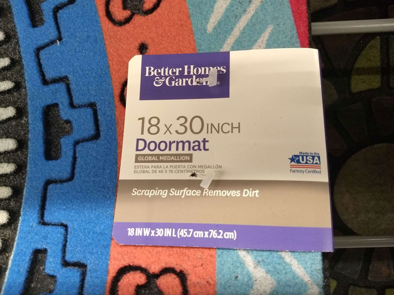 Walmart Made in the USA doormat