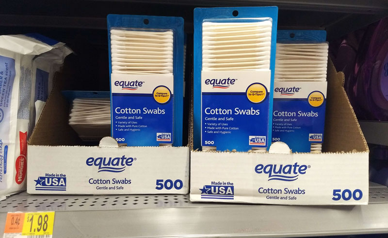 Walmart Made in the USA cotton swabs