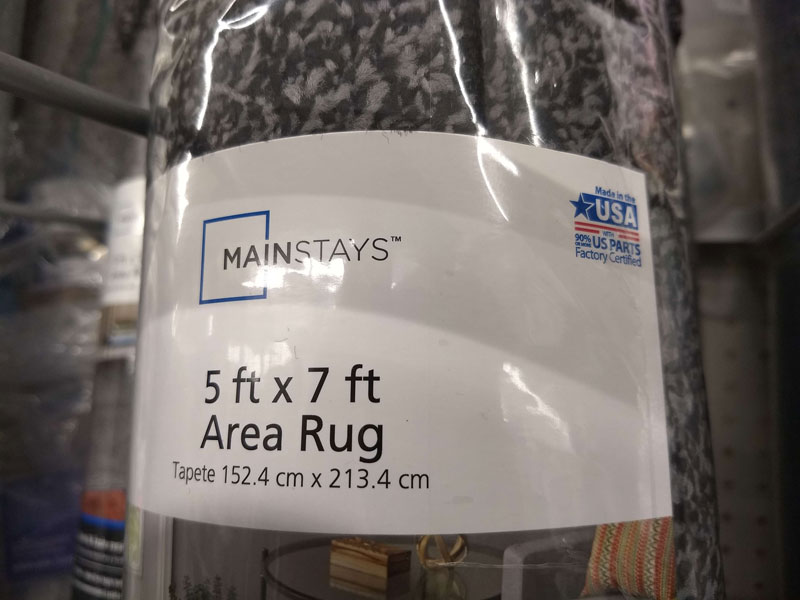 Walmart Made in the USA rug